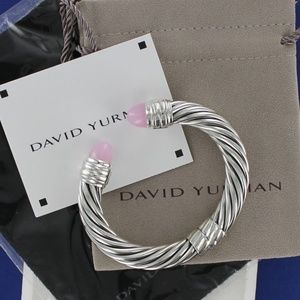 David Yurman 10mm CUFF Bracelet ROSE QUARTZ